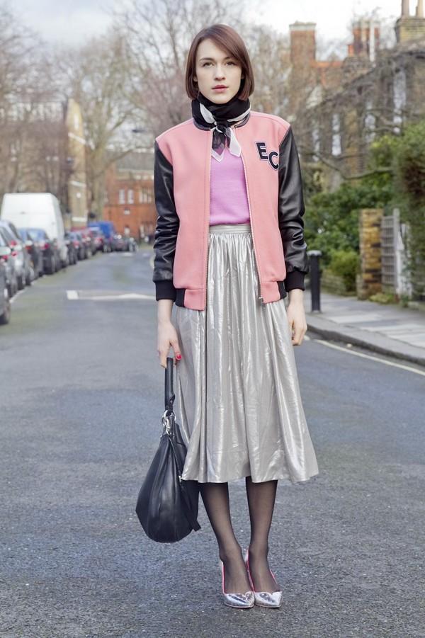 la petite anglaise skirt jacket scarf jewels bag shoes