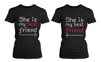 Amazon.com: BFF Matching Shirts - She's My Best Friend with Arrows - Gift for BFF: Clothing