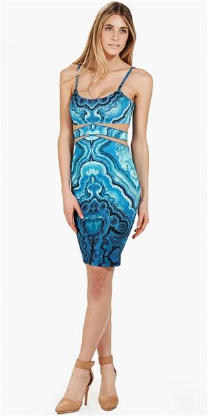 Torn by Ronny Kobo - Her Dress- Multi/Blue - Big Drop NYC