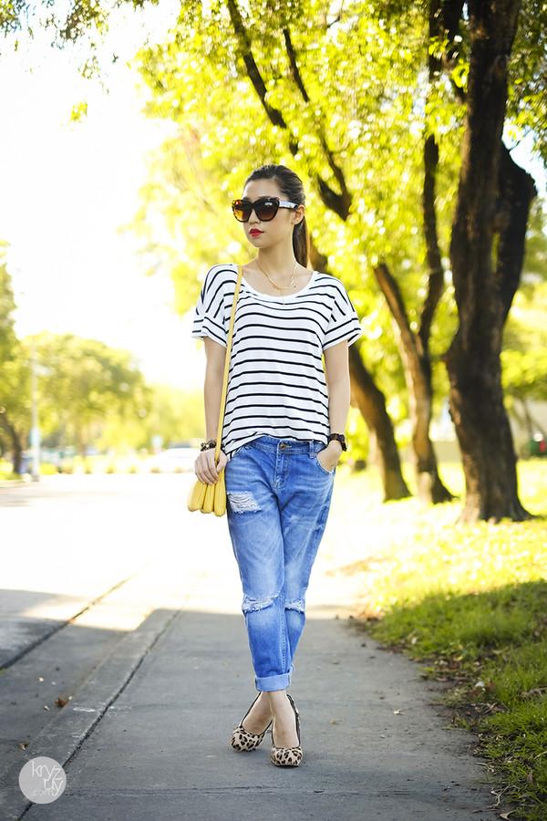 kryzuy top sunglasses jeans shoes bag