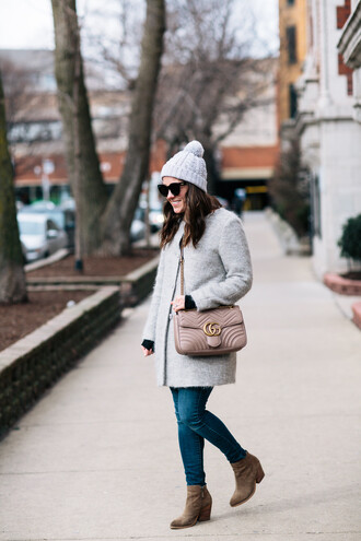 sequins and stripes blogger coat sweater jewels jeans shoes sunglasses bag friday zara madewell