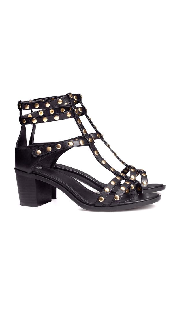 shoes sandals black black shoes studded shoes