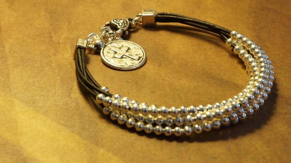 jewels fleurdesignz.etsy.com silver and leather bracelet multi strand leather bracelet bohemian