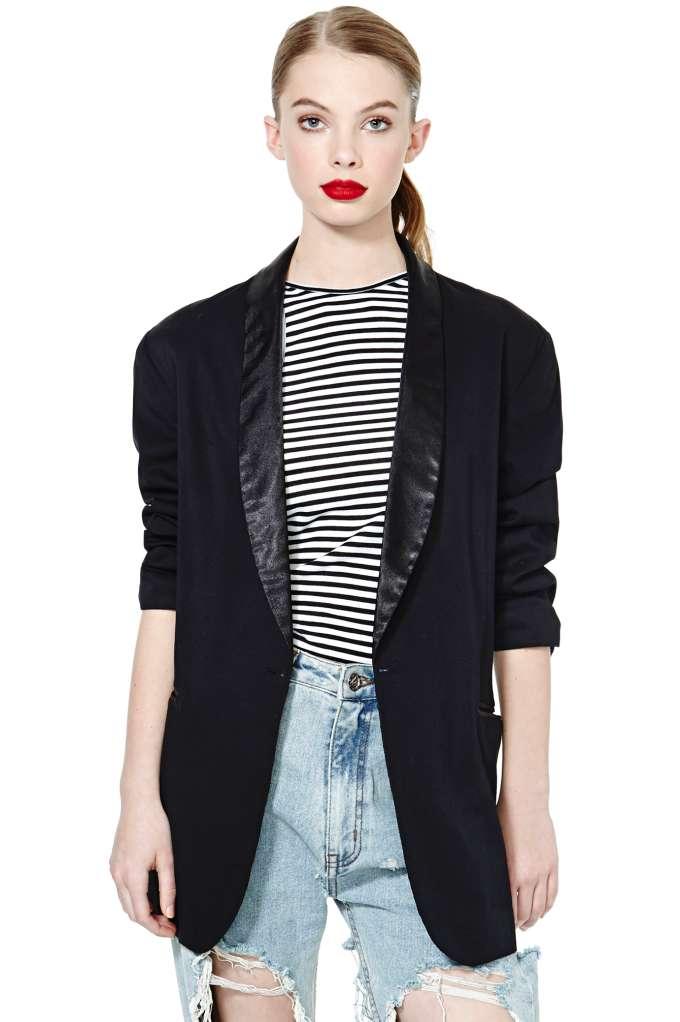 Alma Tuxedo Jacket at Nasty Gal