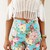 Multi Shorts - Floral Print Denim Shorts with | UsTrendy