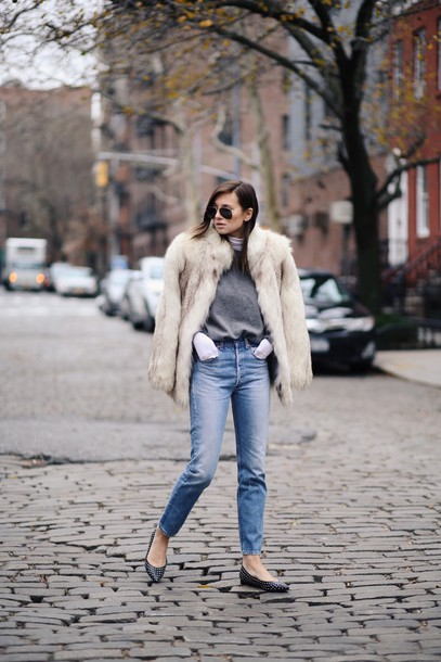 we wore what blogger sweater coat
