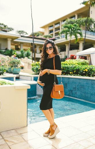 thesweetestthing blogger dress shoes bag sunglasses jewels make-up