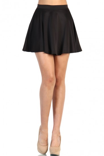LoveMelrose.com From Harry & Molly   Skater Skirt - Black