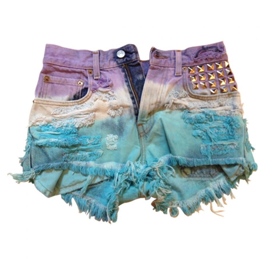 Short clouté tie and dye LEVI'S Multicolore taille 36 FR en Denim / Jeans Printemps / Eté - 364512