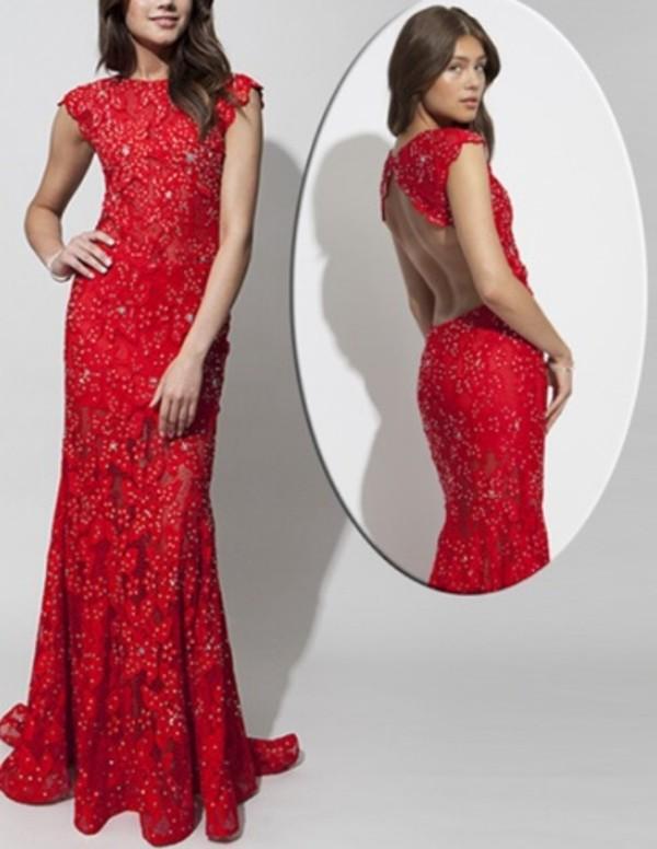 dress red dress prom dress lace long prom dress open back open back dresses sparkly dress