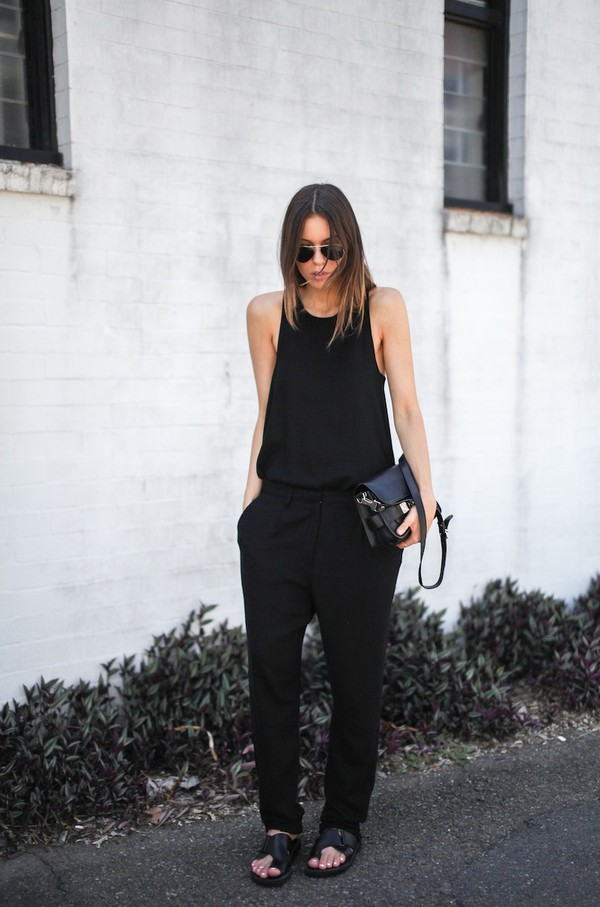modern legacy tank top pants bag shoes sunglasses