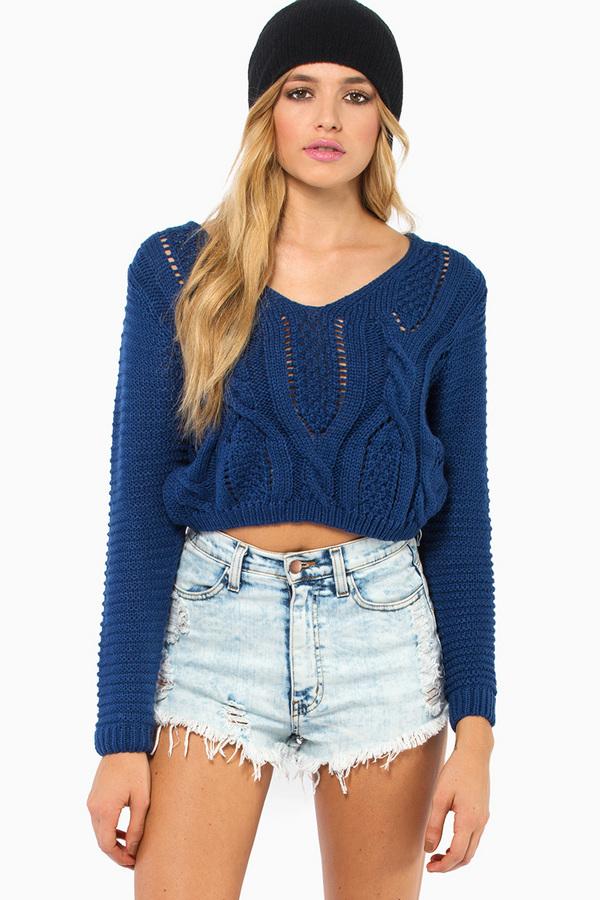 Keep It Laced Sweater - TOBI