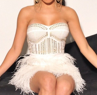 rivets feathers pll ice ball dress