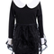 Overlay lace black puff shift dress [ncske0211] - $48.99 :