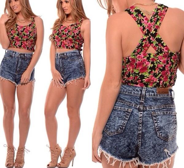 shorts high waisted denim shorts shirt