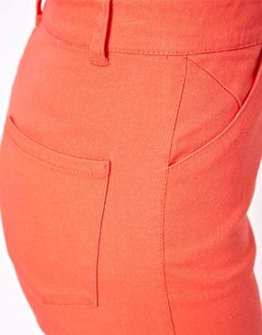 ASOS   ASOS High Waist Trousers in Twill at ASOS
