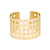 Macon | Cut Out Grid Detail Cuff Bracelet | Svelte Metals