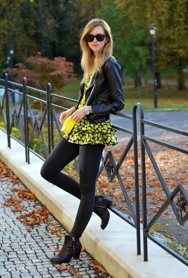 vogue haus t-shirt jacket shoes bag sunglasses jewels