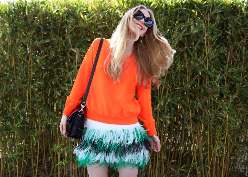 feather skirt | Fashion Squad