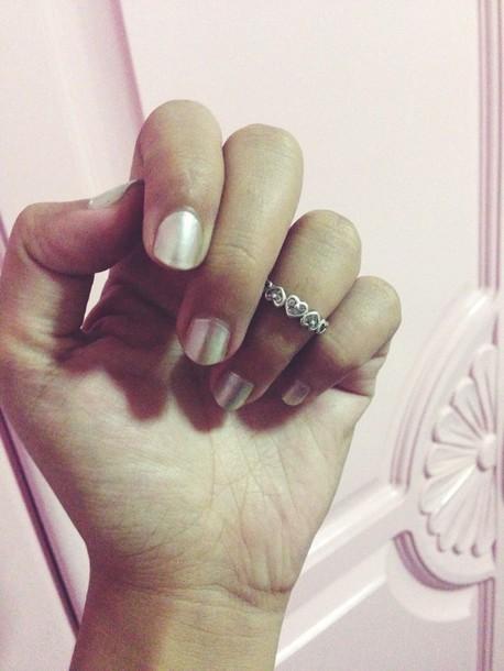 nail accessories nails nail polish knuckle ring platinum special