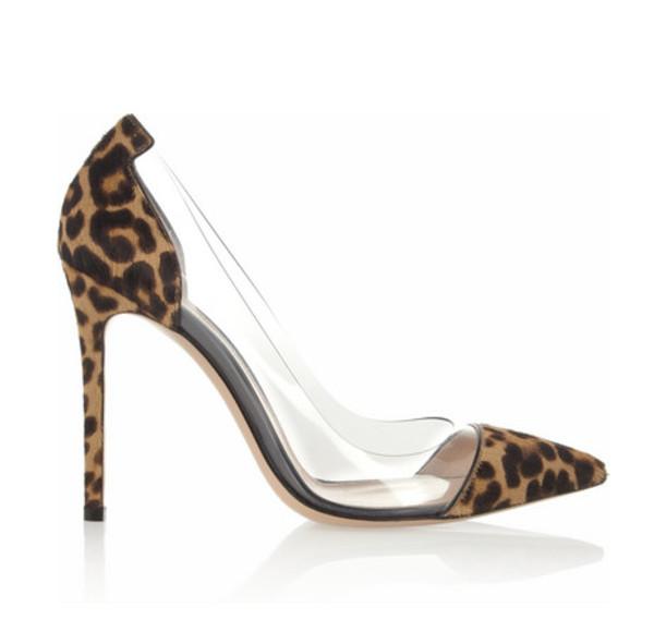 shoes heels clear leopard print leopard print clear heels animal print animal print high heels stilettos d'orsay pumps