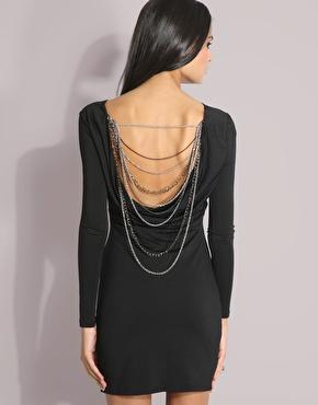 Forever Unique   Forever Unique Chain Back Dress at ASOS