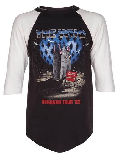 Vintage 'the Who 1982' Baseball Tee - What Goes Around Comes Around - Farfetch.com