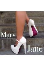 White Glitter Maryjane Heels @ Amiclubwear Heel Shoes online store sales:Stiletto Heel Shoes,High Heel Pumps,Womens High Heel Shoes,Prom Shoes,Summer Shoes,Spring Shoes,Spool Heel,Womens Dress Shoes,Prom Heels,Prom Pumps,High Heel Sandals,Cheap Dress Shoe