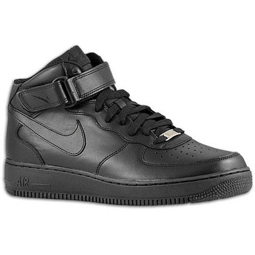 Nike Air Force 1 Mid - Men's - Basketball - Shoes - Black/Black