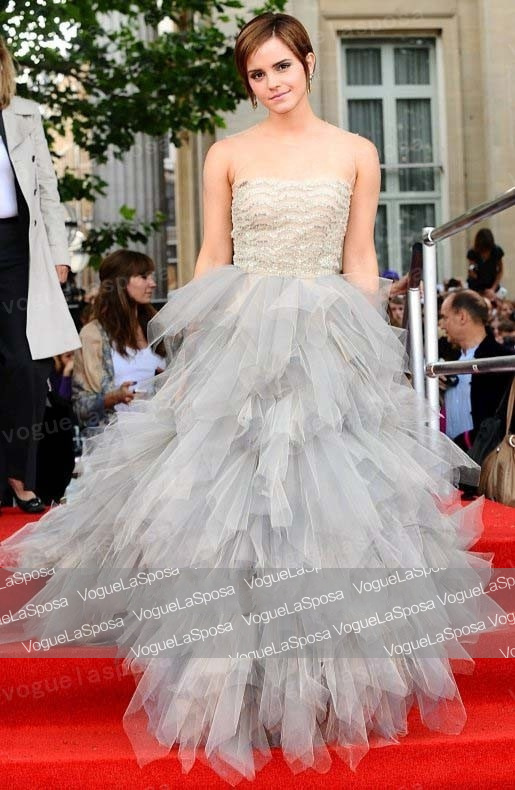 Free shipping Wholesale Emma Watson Tulle Prom Dress Harry Potter And The Deathly Hallows Part 2 London Premiere-in Celebrity-Inspired Dresses from Apparel & Accessories on Aliexpress.com