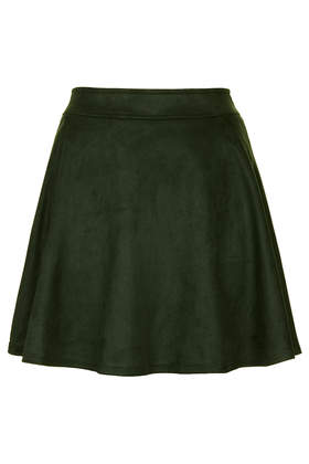 **Sea Green Faux Suede Skirt by Sister Jane - Topshop
