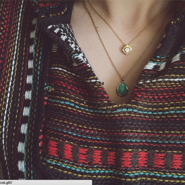jewels necklace stone turquoise jewelry beaded baja accessories tina woods tina hippie sweater