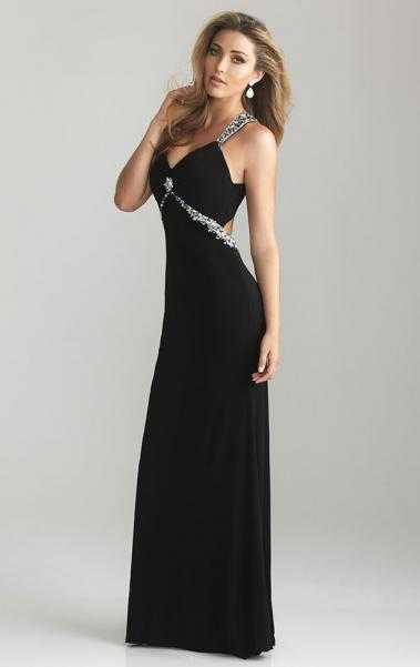 Beautiful With Trailing Black Evening Prom Dress LFNAE0045, Shop Prom with SheinDress.co.uk
