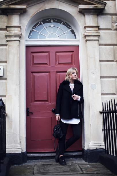 into the fold blogger black coat