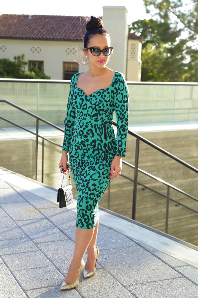 The Green Leopard Dress - KTRcollection