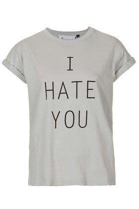 I Hate You Tee By Tee And Cake - Jersey Tops - Clothing - Topshop USA