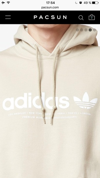 sweater hoodie sweatshirt beige adidas adidas originals adidas superstars adidas sweater shoes chic