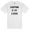 Shopping is my cardio white t-shirt - basic tees shop