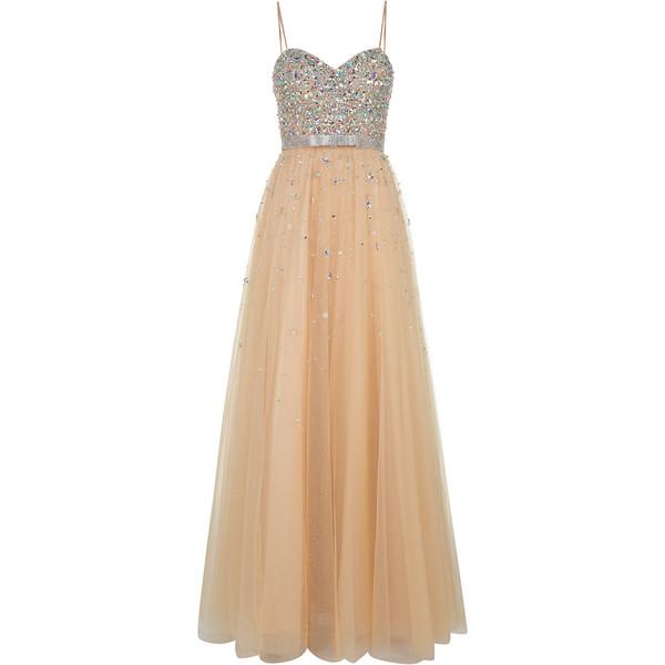 Champagne Maxi Prom Dress - Polyvore