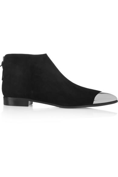 Miu Miu Metal-tipped suede ankle boots NET-A-PORTER.COM