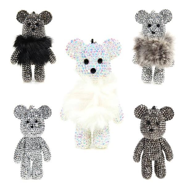 jewels keychain cute teddy bear
