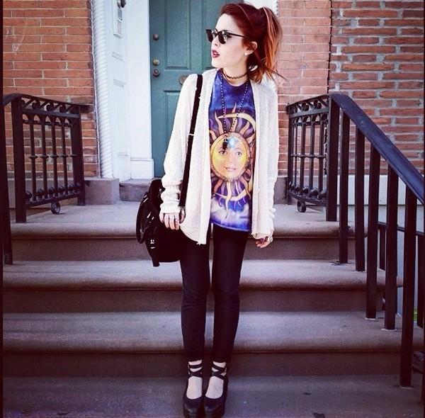 shirt moon and sun blue shirt sweater