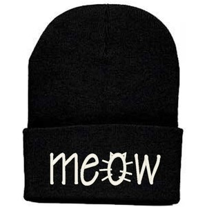 Meow Winter Beanie Skully Cat One Size - Polyvore
