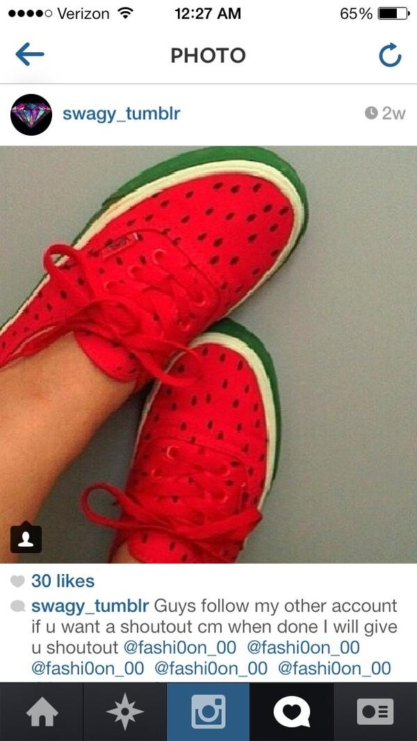 shoes watermelon print watermelon shoes