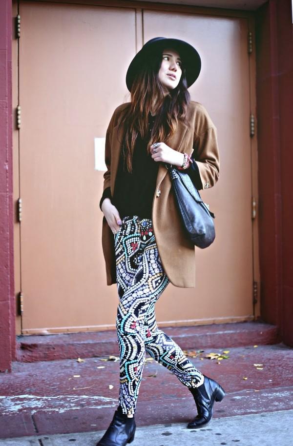 color me nana jeans sweater coat shoes bag hat
