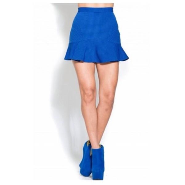 skirt blue skirt mini skirt skater skater skirt