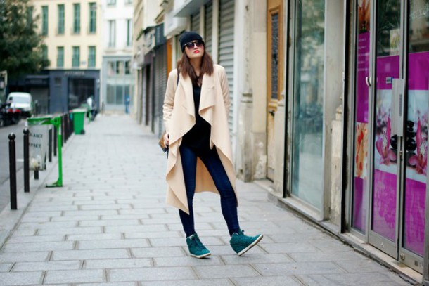 meet me in paree blogger wedge sneakers winter outfits cardigan