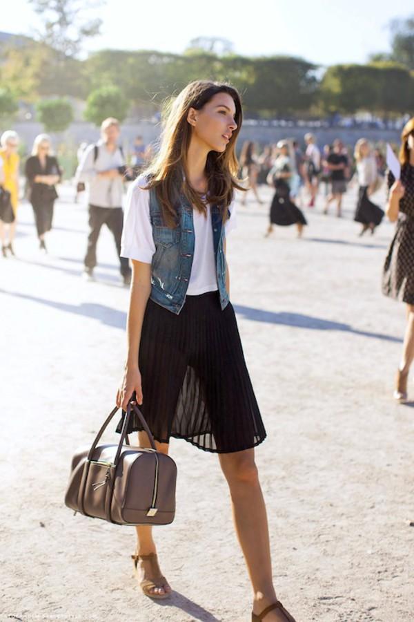 le fashion image jacket t-shirt bag skirt