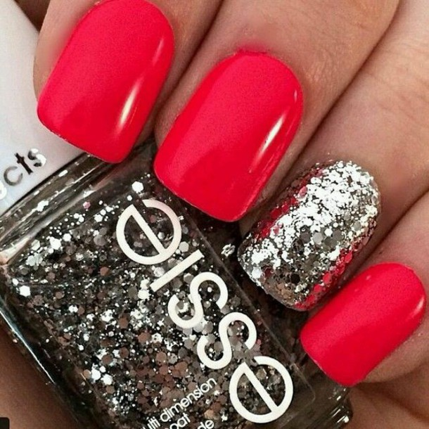 nail polish nails beautiful glitter metallic nails