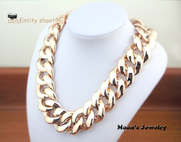 2013 New European CCB Gold Plated Chunky Punk Chain Choker Collar Bib Statement Necklace Fashion Jewelry For Women Wholesale 443-in Chain Necklaces from Jewelry on Aliexpress.com